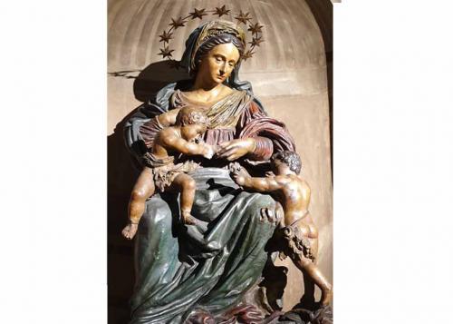 Madonna con Gesù Bambino e San Giovannino - Z. Zaccaria- 1500