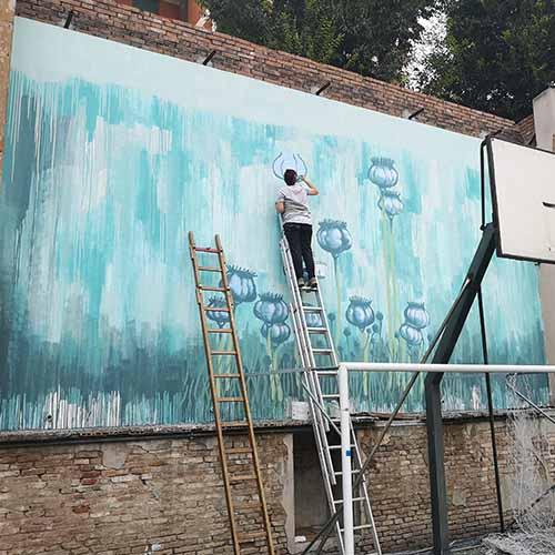 Inizio realizzazione Murales